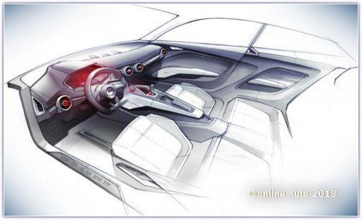 Компания Audi выставила в Интернет скетчи нового компактного кроссовера под предварительным названием Audi Show Car