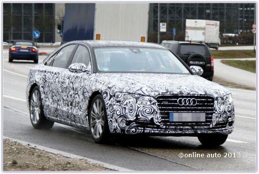 Рестайлинголвая Audi A8 завершает тестовые испытания