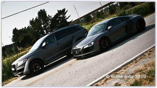 Audi R8 и Audi Q7