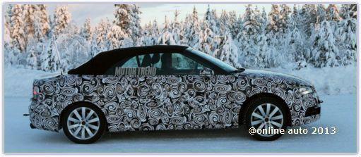 Компания Audi испытывает кабриолет А3 в зимних условиях