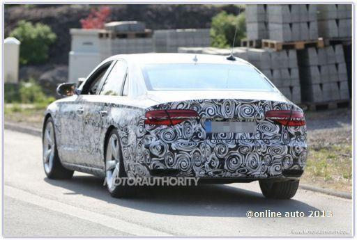 В Сети появились новые фото рестайлингового Audi A8